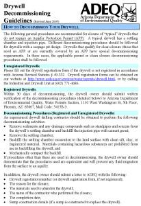 ADEQ Drywell Closure Guidelines