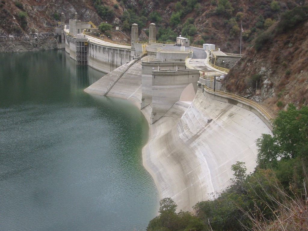Morris Dam holds back the San Gabriel river.